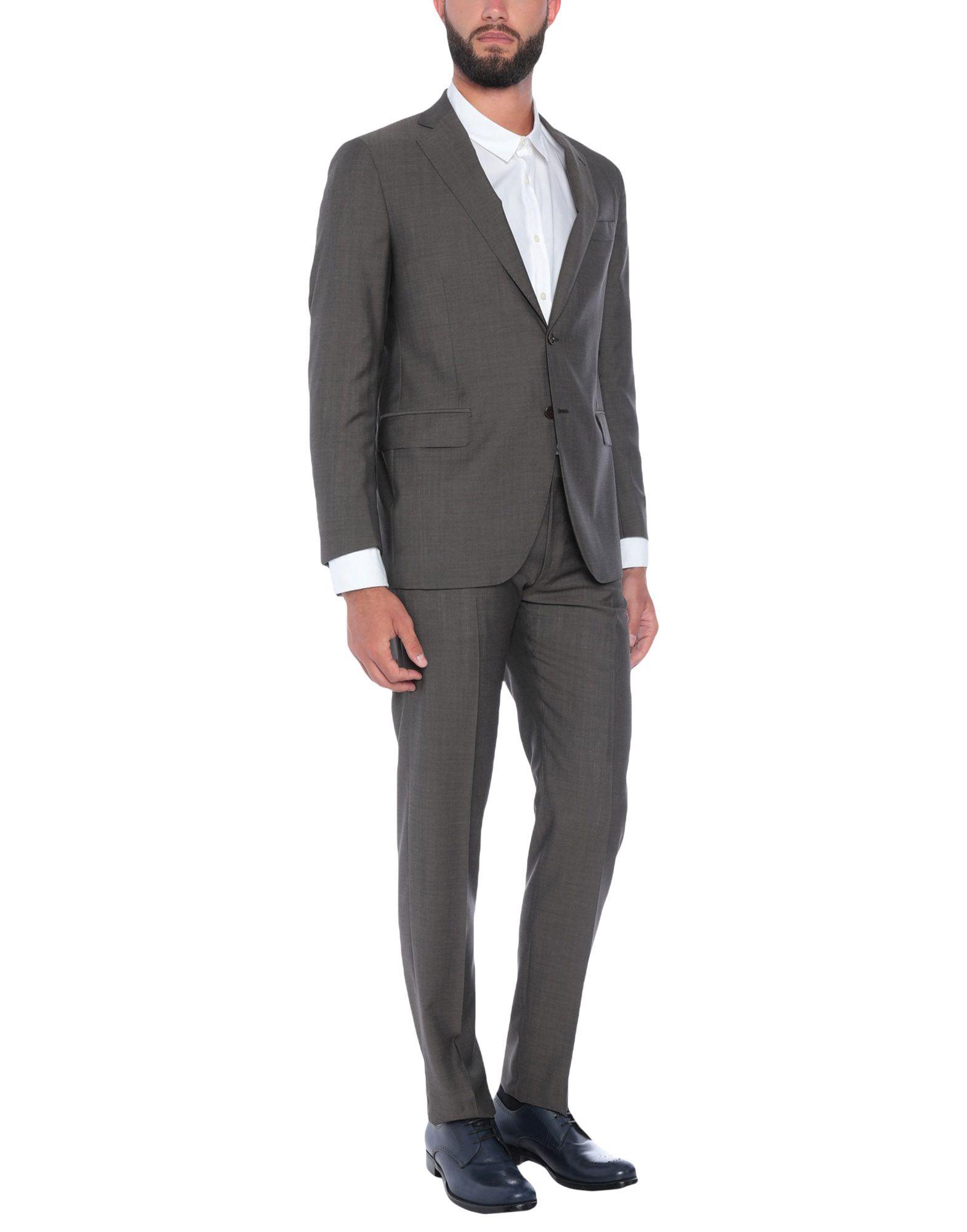 《送料無料》TOMBOLINI メンズ スーツ カーキ 54 スーパー100 ウール 100%