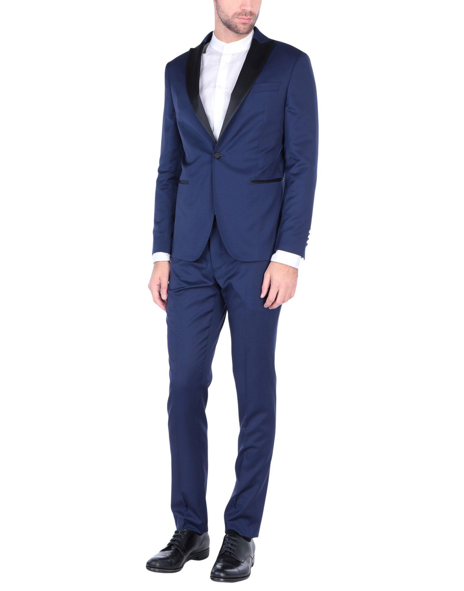 《送料無料》VITALE BARBERIS CANONICO メンズ スーツ ブルー 50 バージンウール 100%