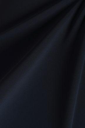 BADGLEY MISCHKA Strapless layered crepe dress