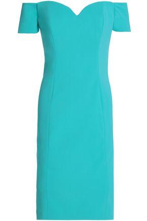 BADGLEY MISCHKA Off-the-shoulder crepe dress