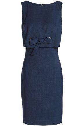 BADGLEY MISCHKA Layered bow-detailed woven mini dress