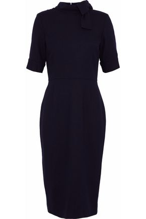 GOAT Coco bow-embellished wool-crepe dress