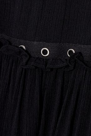 REBECCA MINKOFF Helen embellished ruffled gauze mini dress