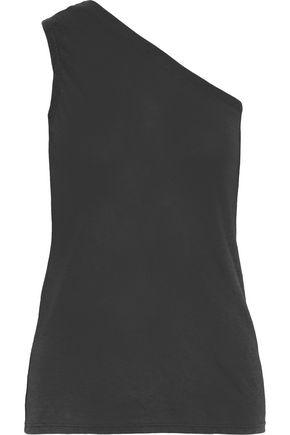 RTA One-shoulder slub cotton and cashmere-blend jersey top