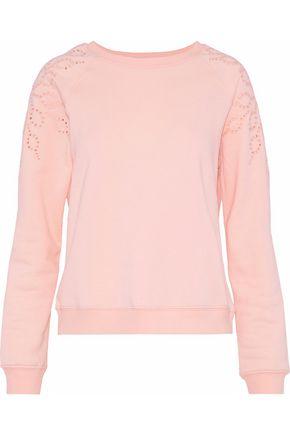 REBECCA MINKOFF Zoe broderie anglaise fleece sweatshirt