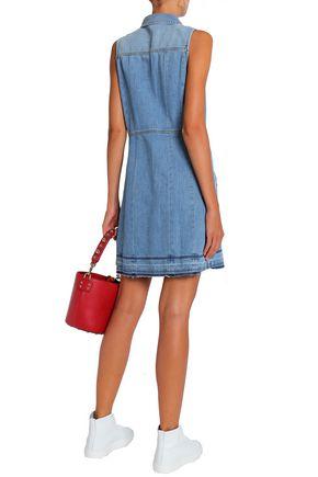 7 FOR ALL MANKIND Faded denim mini shirt dress