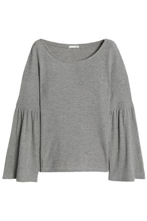 SKIN Ribbed cotton-blend pajama top