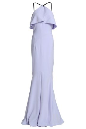 RACHEL GILBERT Fluted layered crepe gown