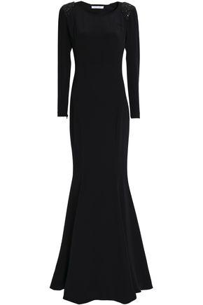 3e565b8e493770 RACHEL GILBERT Open-back embellished silk gown