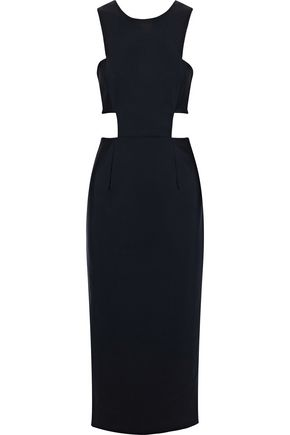 MILLY Issey cutout cady midi dress