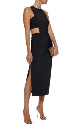 Issey Cutout Cady Midi Dress by Milly