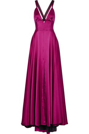 MILLY Monroe silk-blend satin gown
