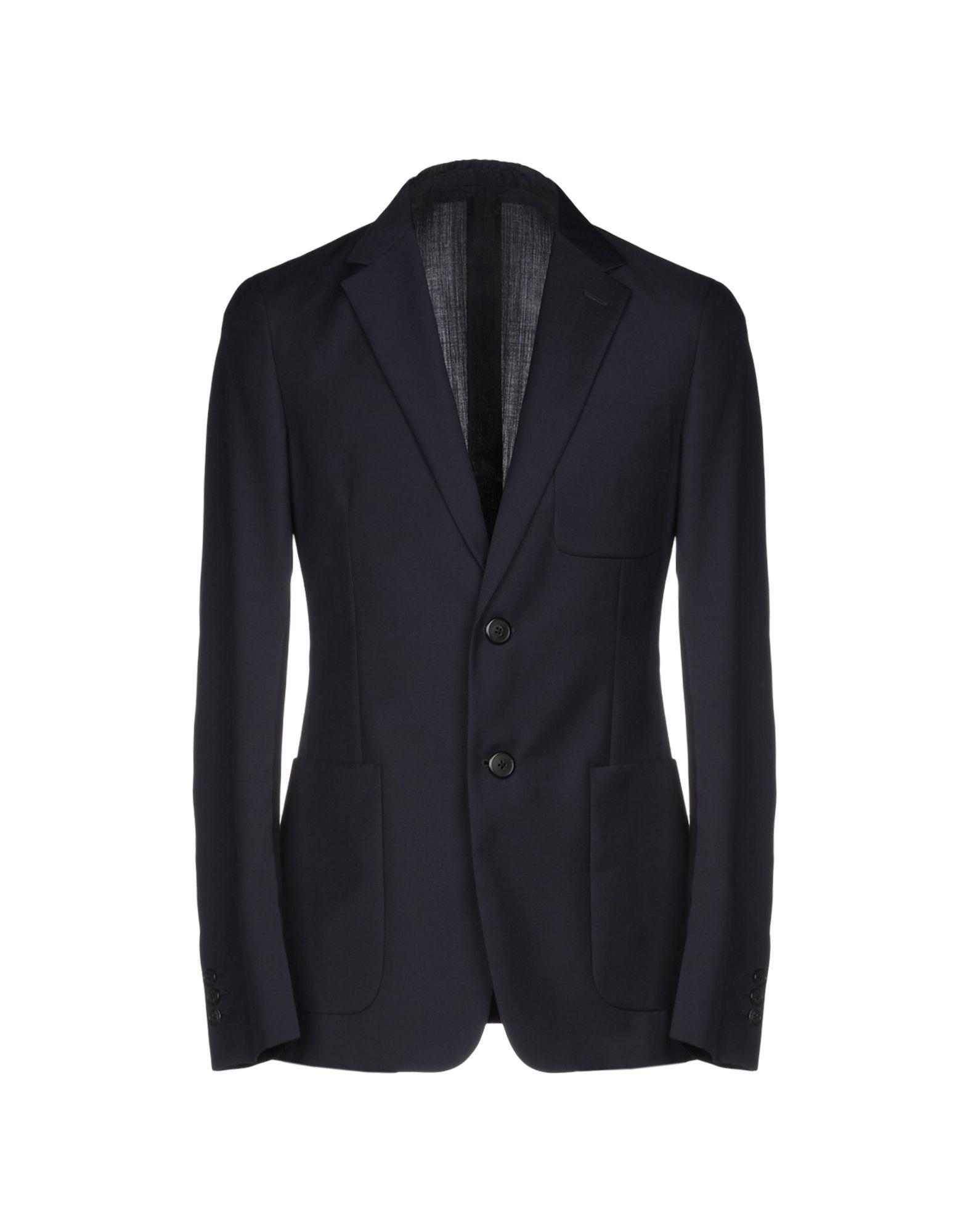 《セール開催中》PRADA メンズ テーラードジャケット ダークブルー 50 88% バージンウール 12% モヘヤ