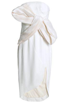 RACHEL GILBERT Bow-detailed organza and cady dress