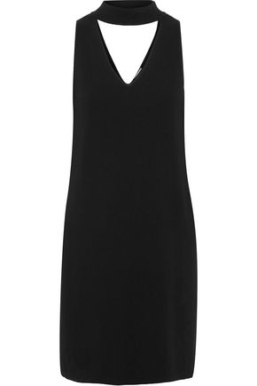 MILLY Cutout stretch-knit mini dress