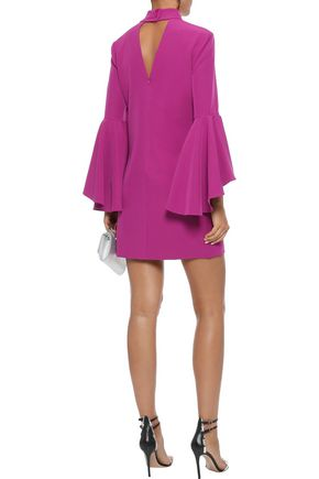 MILLY Andrea cutout crepe mini dress