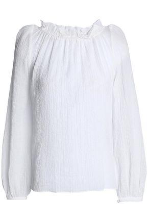 GOAT Renoir ruffle-trimmed silk crepe de chine blouse