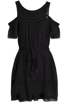 LOVE SAM Lace-trimmed voile mini dress