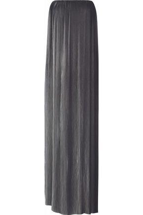 RACHEL GILBERT Naya strapless plissé chiffon gown
