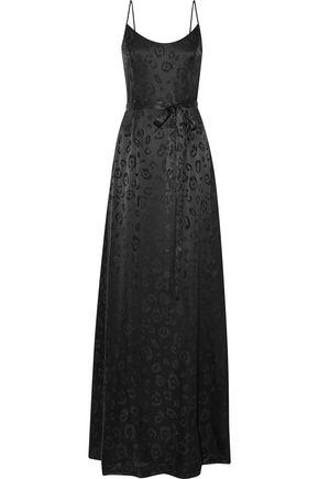 L'AGENCE Shani silk-jacquard gown