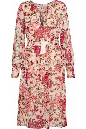 MIKAEL AGHAL Floral-print chiffon dress