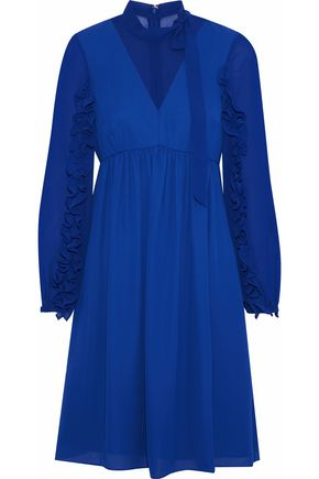 MIKAEL AGHAL Ruffle-trimmed chiffon dress