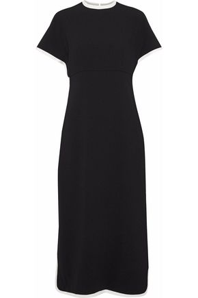 MIKAEL AGHAL Two-tone crepe midi dress
