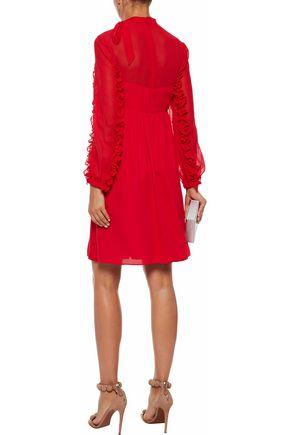 MIKAEL AGHAL Ruffle-trimmed chiffon dress