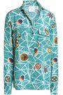 STELLA JEAN Printed silk crepe de chine shirt