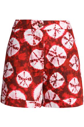 STELLA JEAN Printed cotton-poplin shorts