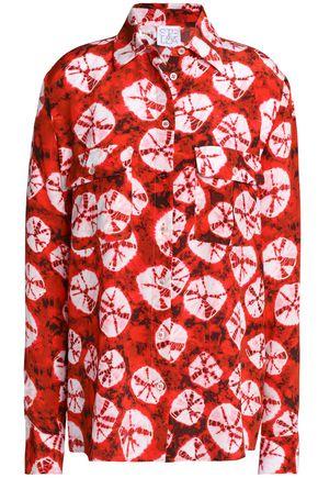 STELLA JEAN Tie-dyed silk crepe de chine shirt