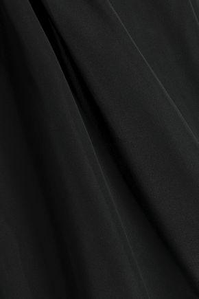 ALICE + OLIVIA Cold-shoulder ruffle-trimmed silk blouse