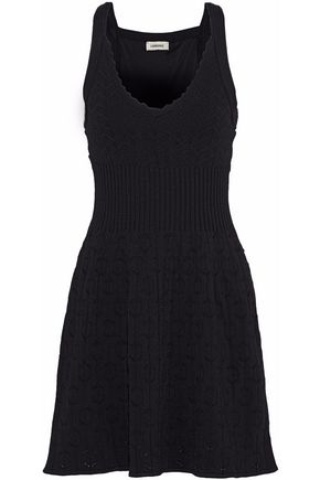 L'AGENCE Izzy crochet-knit mini dress