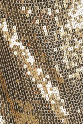 ALICE + OLIVIA Sequined gauze camisole