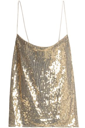 ALICE + OLIVIA JEANS Sequined gauze camisole