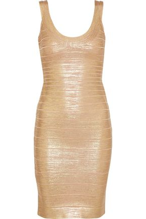 HERVÉ LÉGER Catherine metallic coated bandage mini dress