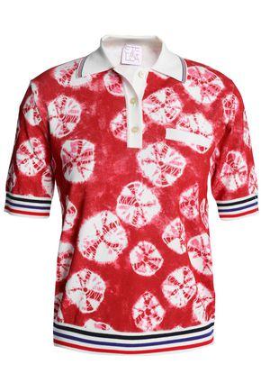 STELLA JEAN Tie-dyed stretch-knit polo shirt