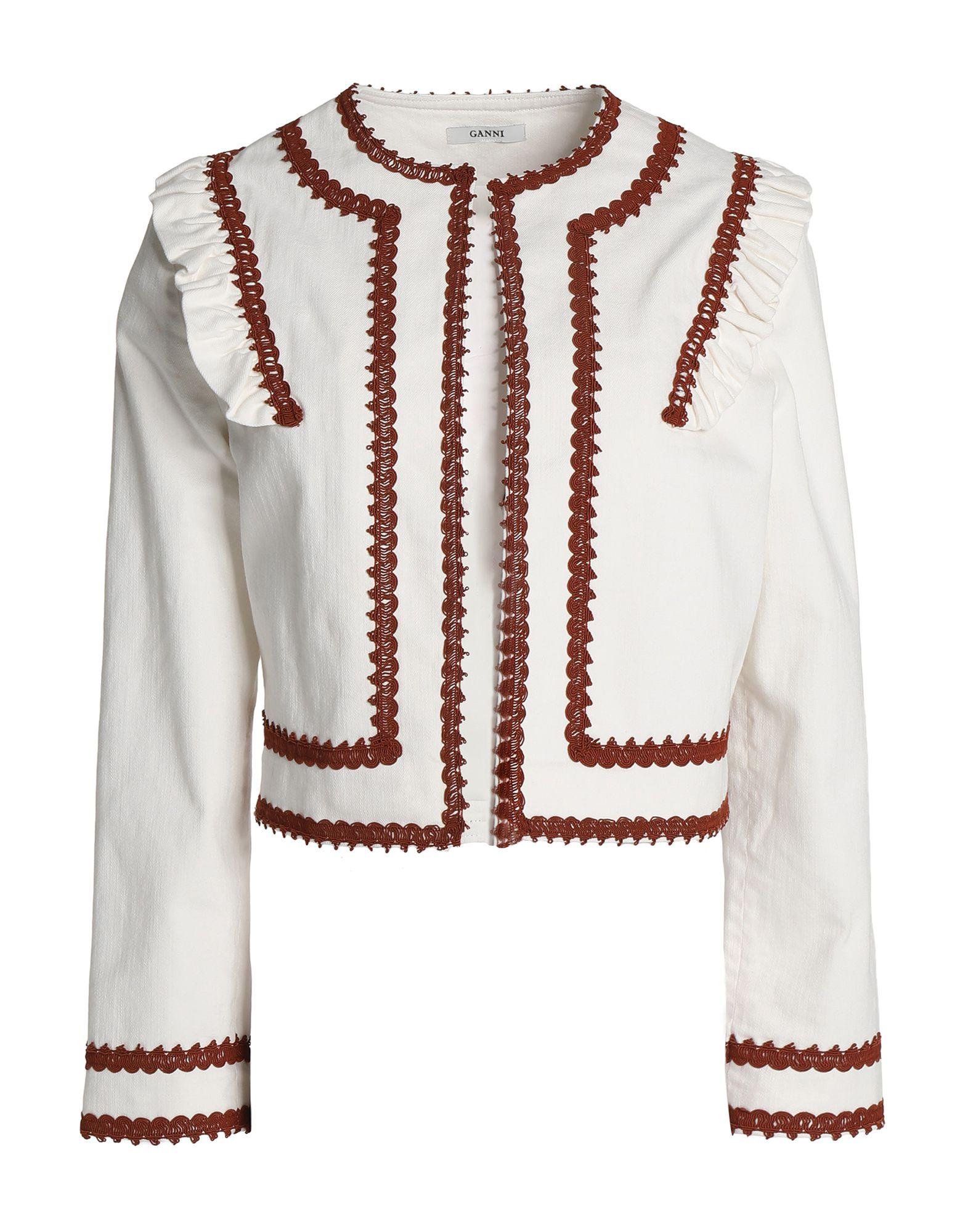 GANNI Джинсовая верхняя одежда брендовая одежда