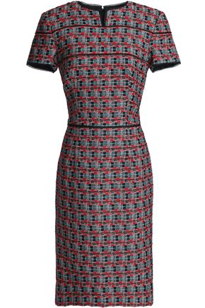 OSCAR DE LA RENTA Cotton and wool-blend jacquard dress