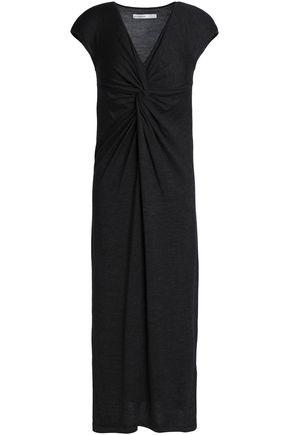 GENTRYPORTOFINO Twist-front wool, silk and cashmere-blend midi dress