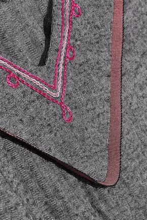 LEMLEM Kito cropped herringbone cotton-blend jumpsuit