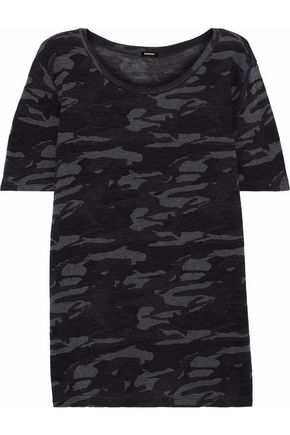 MONROW Printed stretch-jersey T-shirt