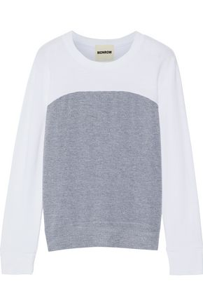 MONROW Two-tone terry sweatshirt