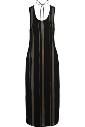 ELIZABETH AND JAMES Talla open-back crepe and georgette midi dress