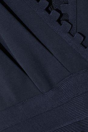 HERVÉ LÉGER Bandage-paneled stretch-knit jumpsuit