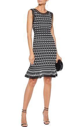 HERVÉ LÉGER Fluted jacquard-knit dress