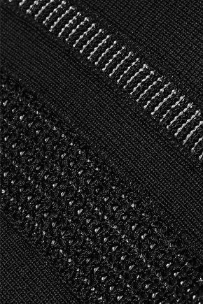 HERVÉ LÉGER Pointelle-trimmed bandage dress