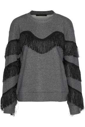 W118 by WALTER BAKER Alexis fringed cotton-blend sweatshirt