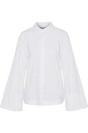 ELIZABETH AND JAMES Norman cotton-blend poplin shirt