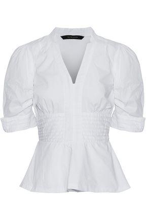 W118 by WALTER BAKER Josefina tiered cotton-poplin peplum shirt